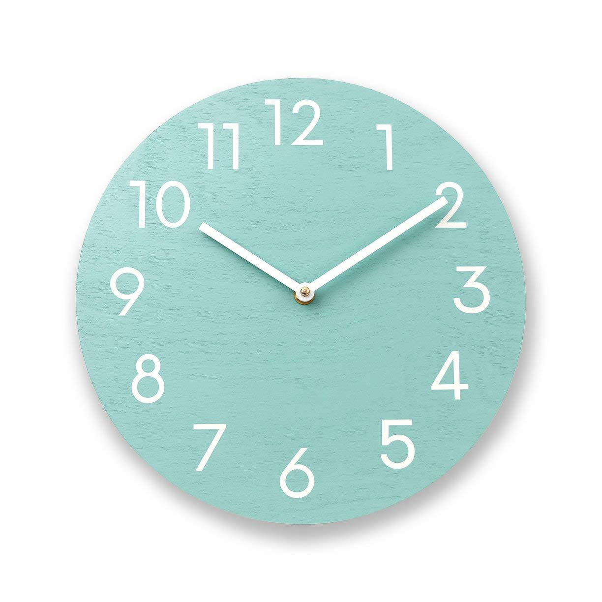 Get Quotations Mint Green Wall Clock Wood Numbers Modern