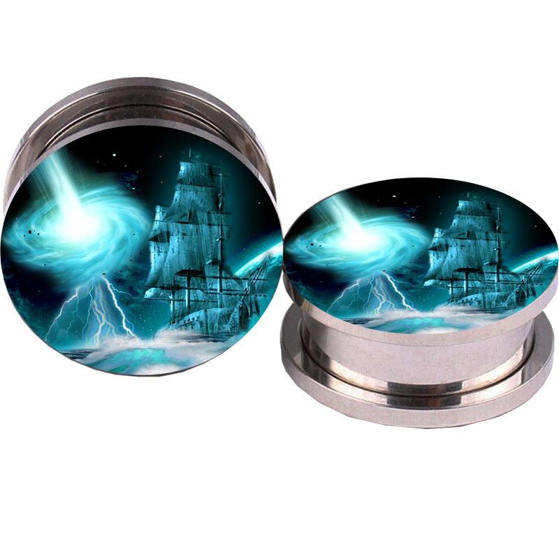 Star Wars Game Logo Ear Plug 5-16mm Ear Plug Tunnel Piercing Expander  Tunnel Plug Ear Gauge Tunnel Earrings Body Jewelry