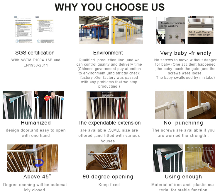 Cheap Price Adjustable Metal Children Baby Safety Pet Security Fence Gate