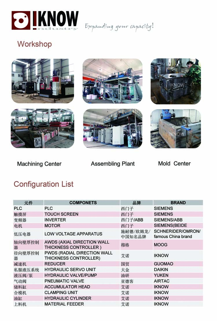 200 to 20,000 L Plastic Water Tank Blow Molding Machine