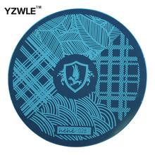 Yzwle 1 de Stamping Nail Art placa, 5.6 cm modelo polonês Manicure aço inoxidável ferramentas Stencil ( hehe-028 )