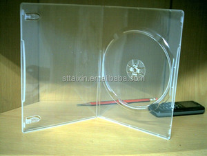 5mm/7mm/9mm/14mm single/double dvd pp case clear