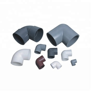 Best Quality PVC 90 Elbow Industrial Plastic Pipe Fitting, PVC Fitting