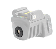 Subcompact rechargeable 520nm single beam green laser sight for pistol