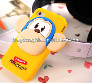 hot sale monkey shape 3D Silicone phone cover phone case