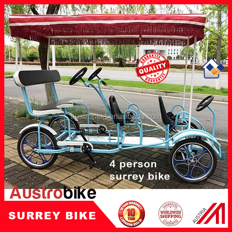 two person surrey bike and four person surrey bike hot selling with options