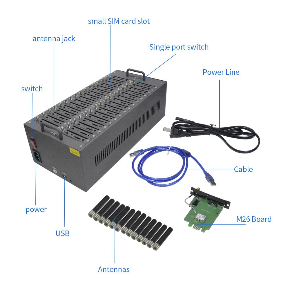 工場価格マルチsimカード32ポート4g smsゲートウェイバルクsmsモデム