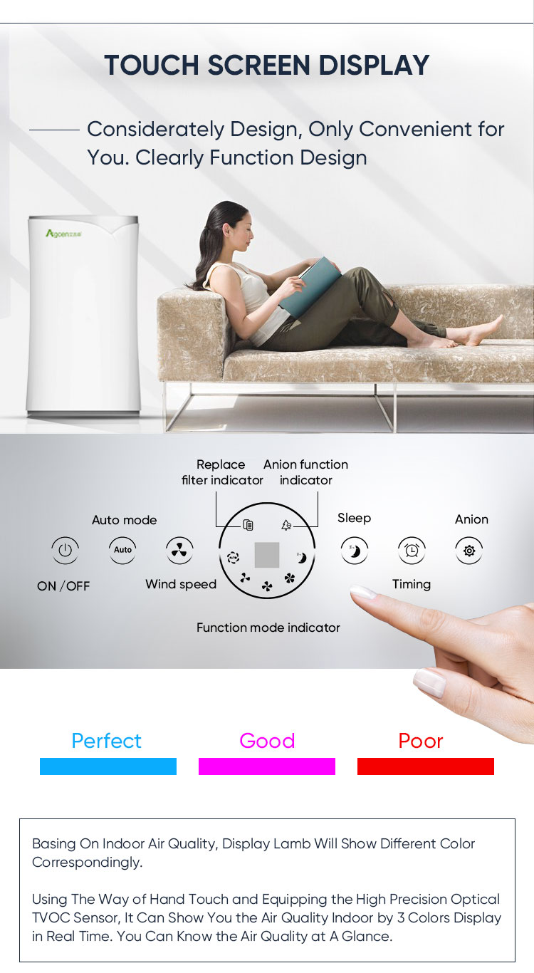 Smart air cleaner ozone generator Remove Dust Ionization PM 2.5 personal UV light Room air purifier freshener machine Home