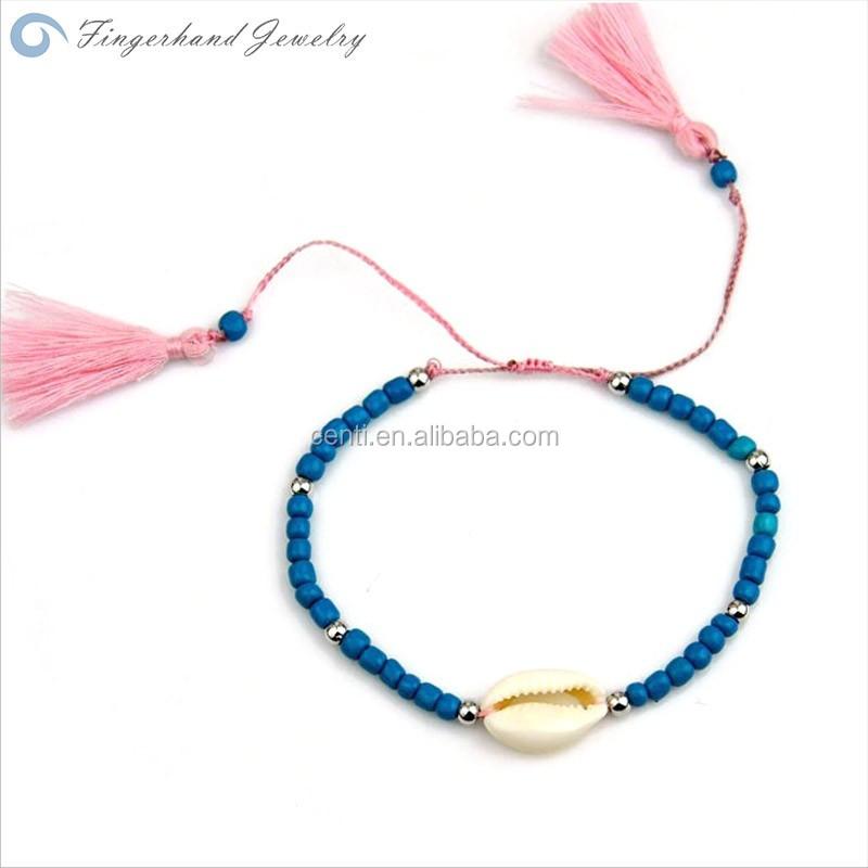Bohemia Style Beach Sea Shell Bracelet Colorful Gl Seed Bead Tel Bracelets