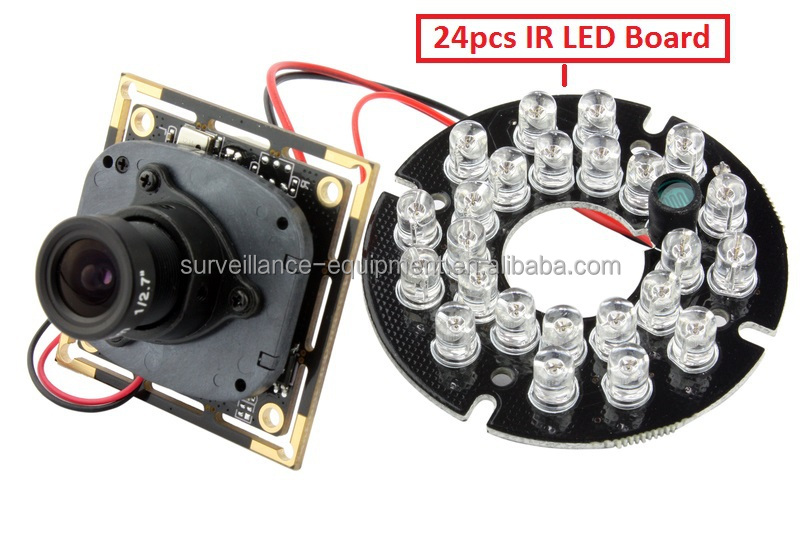 ELP free driver 1.0 megapixel cmos ov9712 720p h.264 night vision camera module module with IR cut and mic