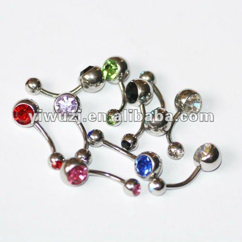 Belly button Ring navel body piercing Bars Surgical Steel jewellery set