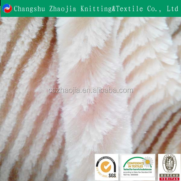 Oeko-Tex Standard 100 100% polyester wholesale faux fur long pile fabric for cloth home textile