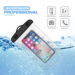2019 Custom Logo Wholesale Price Fashion Beach Cell Mobile Phone Carry Dry Waterproof Phone Bag for iPhone X for Sumsung S10