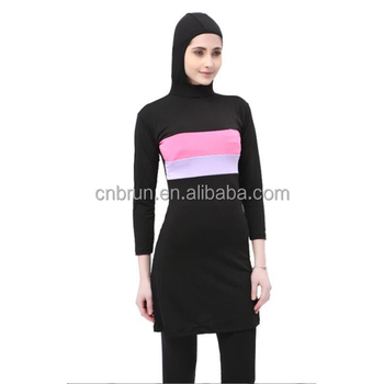 18MA2202Muslim Ladies' Full Coverage Modest Swimwear Muslim Swimwear Islamic Swimsuit Muslim Hijab Swimsuits Muslim Bathing Suit