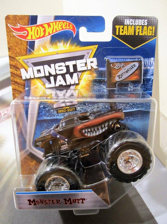 Monster Truck Dog >> Buy Hot Wheels Monster Jam Truck 1 64 New 25 Year Team Flag