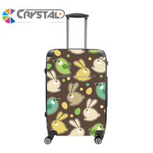 2017 Customized Design High quality castel trolley custom design airport bags 20/24/28 inch abs pc luggage