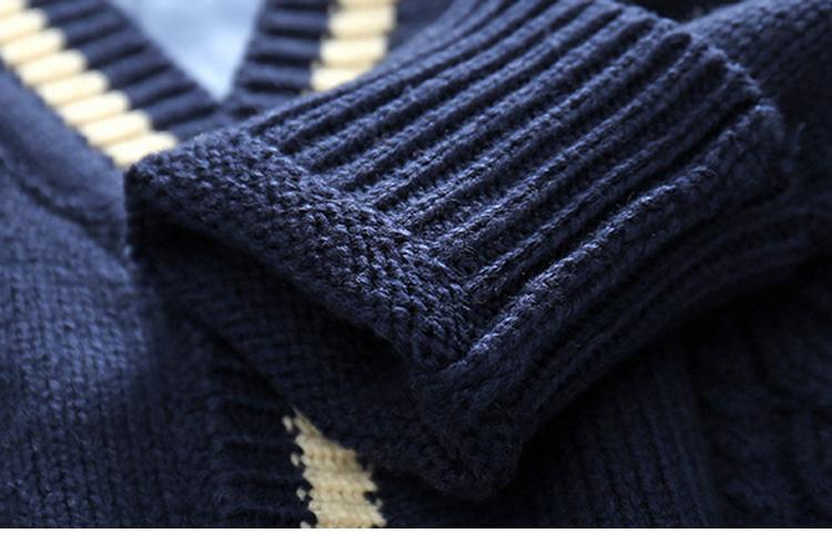 Erkekler için 2018% 100 pamuklu şık kazak çocuklar örgü hırka