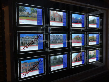 Real Estate A3 Window Displays Led Poster Holders Buy A3