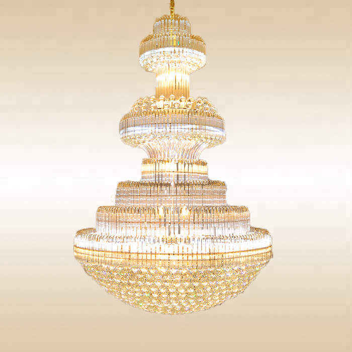 Modern LED luxury chandeliers large crystal chandelier for banquet hotel ETL89032