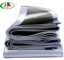 100% recycled material pe tarpaulin with black triangle reinforcde