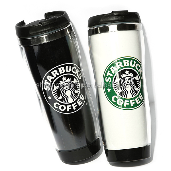 free shipping 400ml starbuck travel mug advertising mug easy for diy custom made mug
