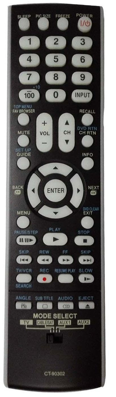 Smartby New Toshiba LCD HDTV Remote Control CT-90302 CT90302 subs CT-90275 CT90275