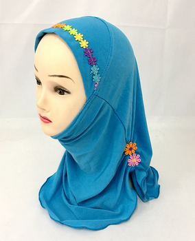 hotsell beautiful muslim small girls lovely hijabs islamic scarf XHGT021