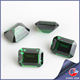 octagon emerald cut customized cz stone names green gemstones