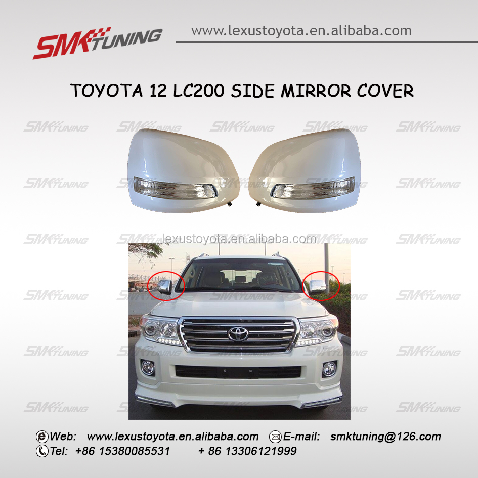SIDE MIRROR COVER WITH LED FOR 2012-2014 LC200 LAND CRUISER FJ200