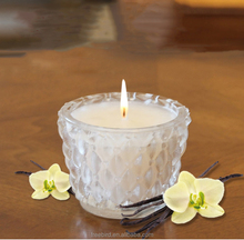 Scented Candles in Clear Glass for Wedding Decoration