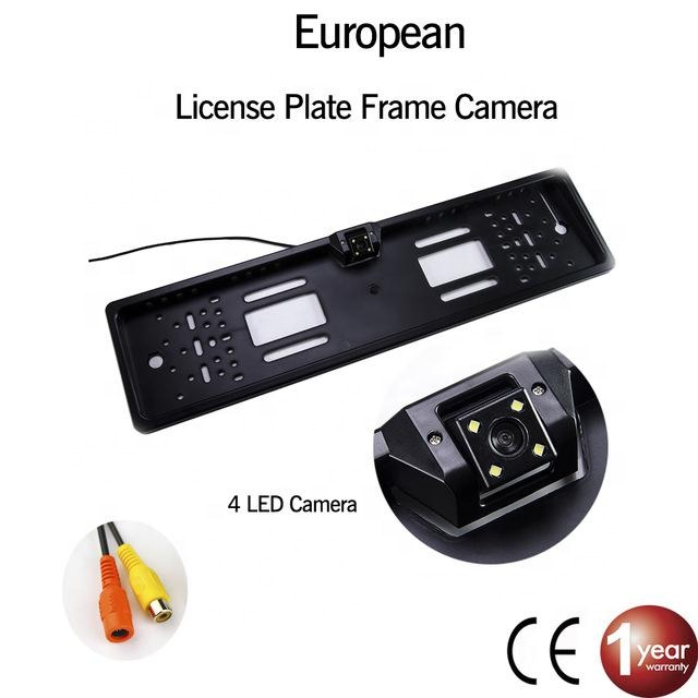 Waterdicht EU Europese Nummerplaat Frame Reverse 4 LED Night Vision Backup Camera Auto Achteruitrijcamera backup camera