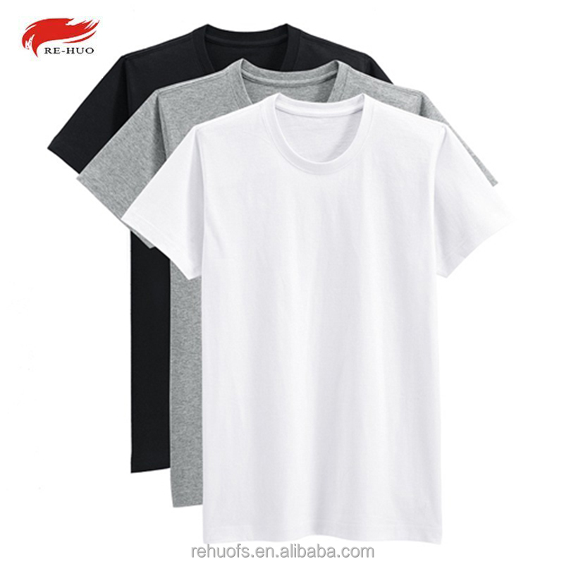 Commercio all'ingrosso blank dry fit plain t shirt