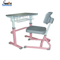 cheap ergonomic kids used study writing desk and chair