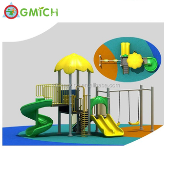Best Quality children outdoor playground equipment plastic slide swing set