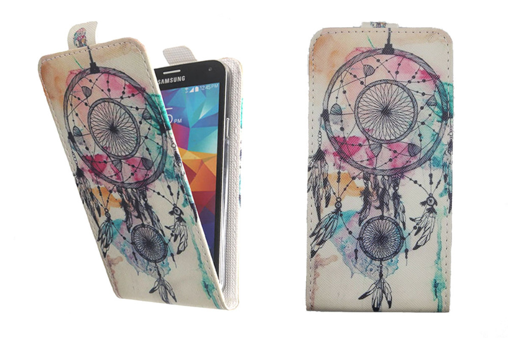 Top Selling 11 Colors Cartoon Pattern Up and Down Flip PU Leather ... c54bae01212