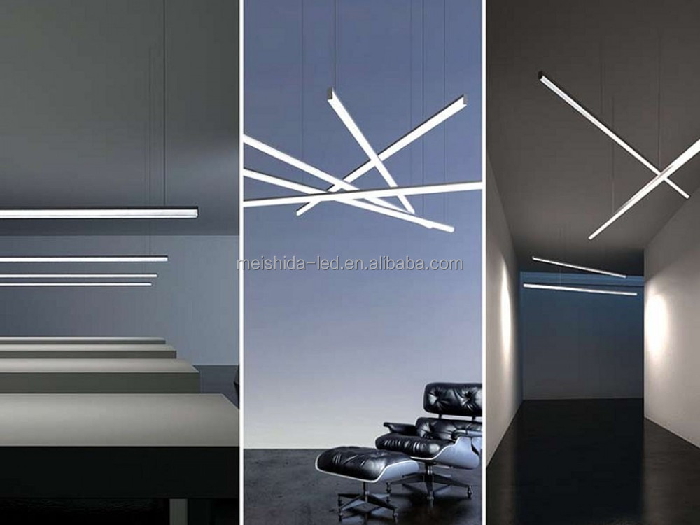Ceiling Suspended Circular Aluminium Profile For Double Width Led ...
