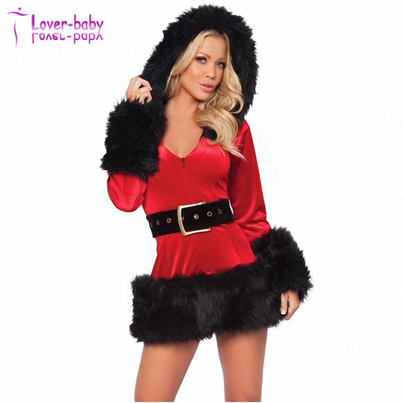 Señoras con encanto traje de Santa traje de Miss Navidad vestido de lujo ca0fcd819f9a