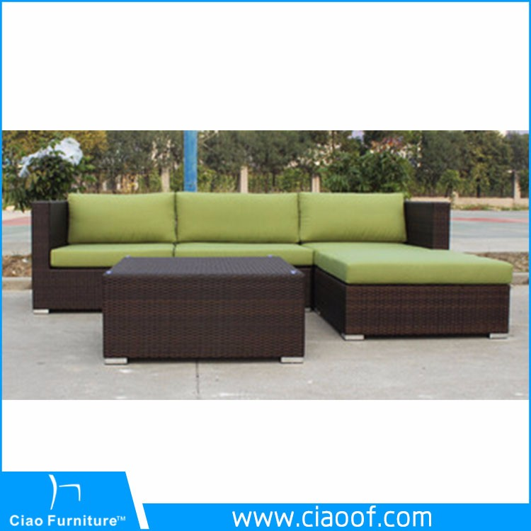 Factory Directly Outdoor Patio All Weather Rattan Wicker Sofa