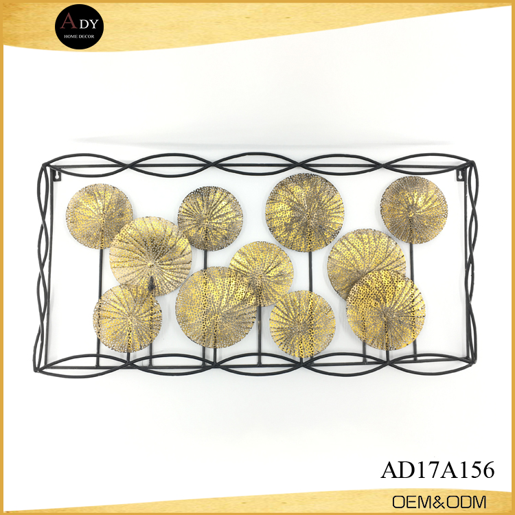 Wholesale Gold Wire Rope Round Plate Mount Metal Wall Decor - Buy ...
