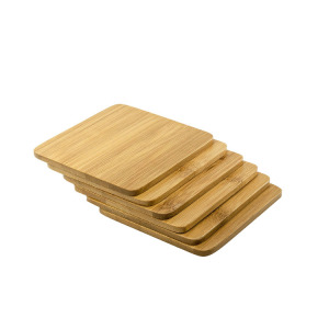 modern design table placemat square bamboo wooden coaster