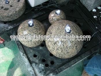 B ware 3 granit kugeln fur springbrunnen kugel steine brunnen gartenbrunnen buy steine brunnen for Gartenbrunnen kugel
