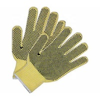 Industrial Hand Safety Protective Working Construction Safety Gloves With Black PVC Dot