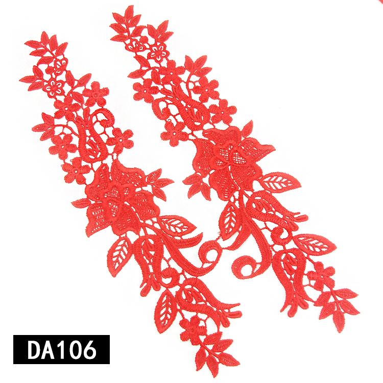 Newest design 2019 wholesale high quality lace applique patches garment decoration