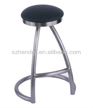 Canadametal bar stool with PU leather
