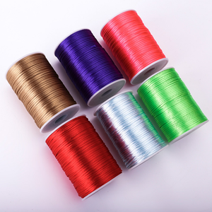 1mm,1.5mm ,2mm,2.5mm,3mm satin chinese knotting cord for Jewelry Findings & Components