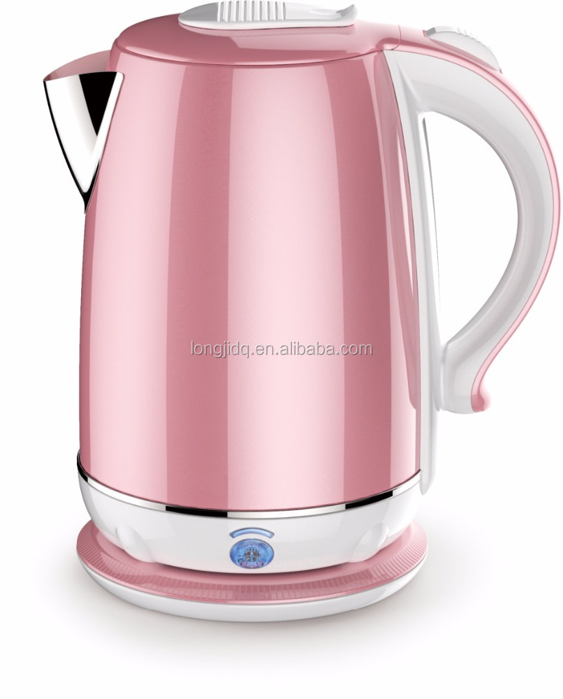 Pink Stainless Steel Capacity 1 2L Home Kitchen Electric Kettle
