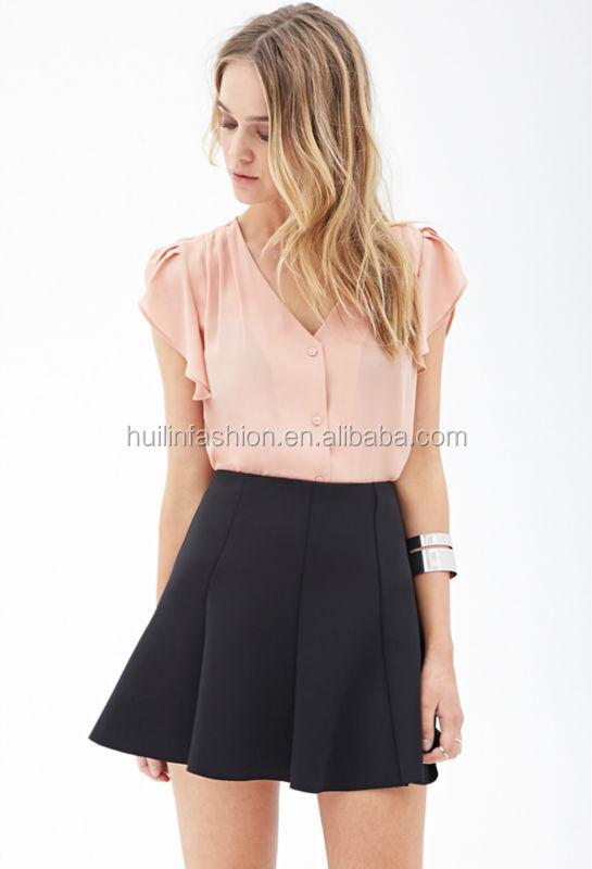 f80e232f43 Más nuevo de fábrica del OEM de conjuntos de blusa y falda para señoras moda  formal