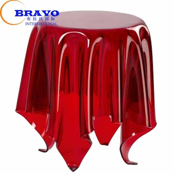 B-RT08 Trade assurance Perspex furniture waterfall end table Lucite ghost coffee table