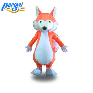 Brown Cunning Fox Mascot Costume