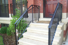 used wrought iron railing fence